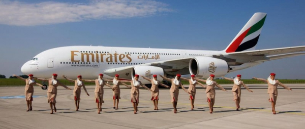 Emirates Carin Crew and plane